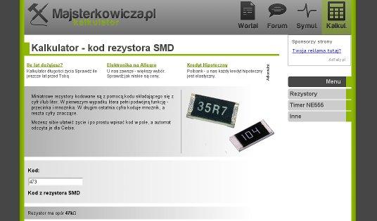 Kalkulatory i dekodery oznacze� dla elektronik�w online