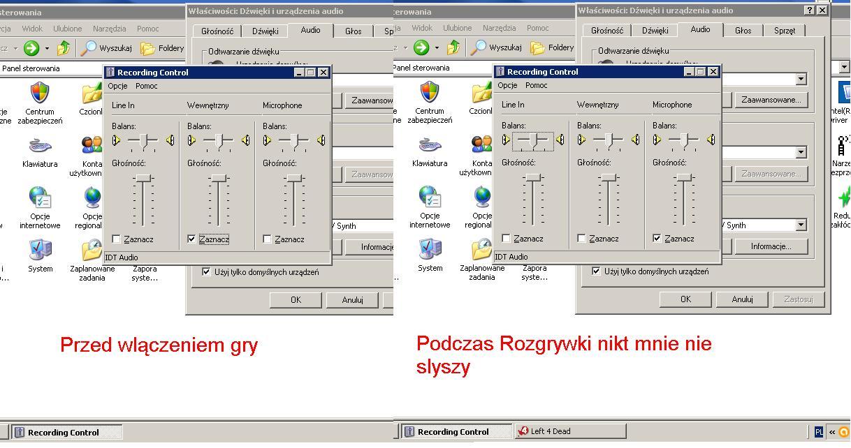 Wylaczanie sie mikrofonu Windows XP