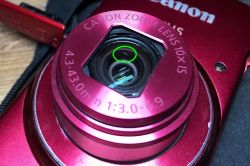 Wypolerowanie małej ryski na obiektywie aparatu Canon IXUS 155