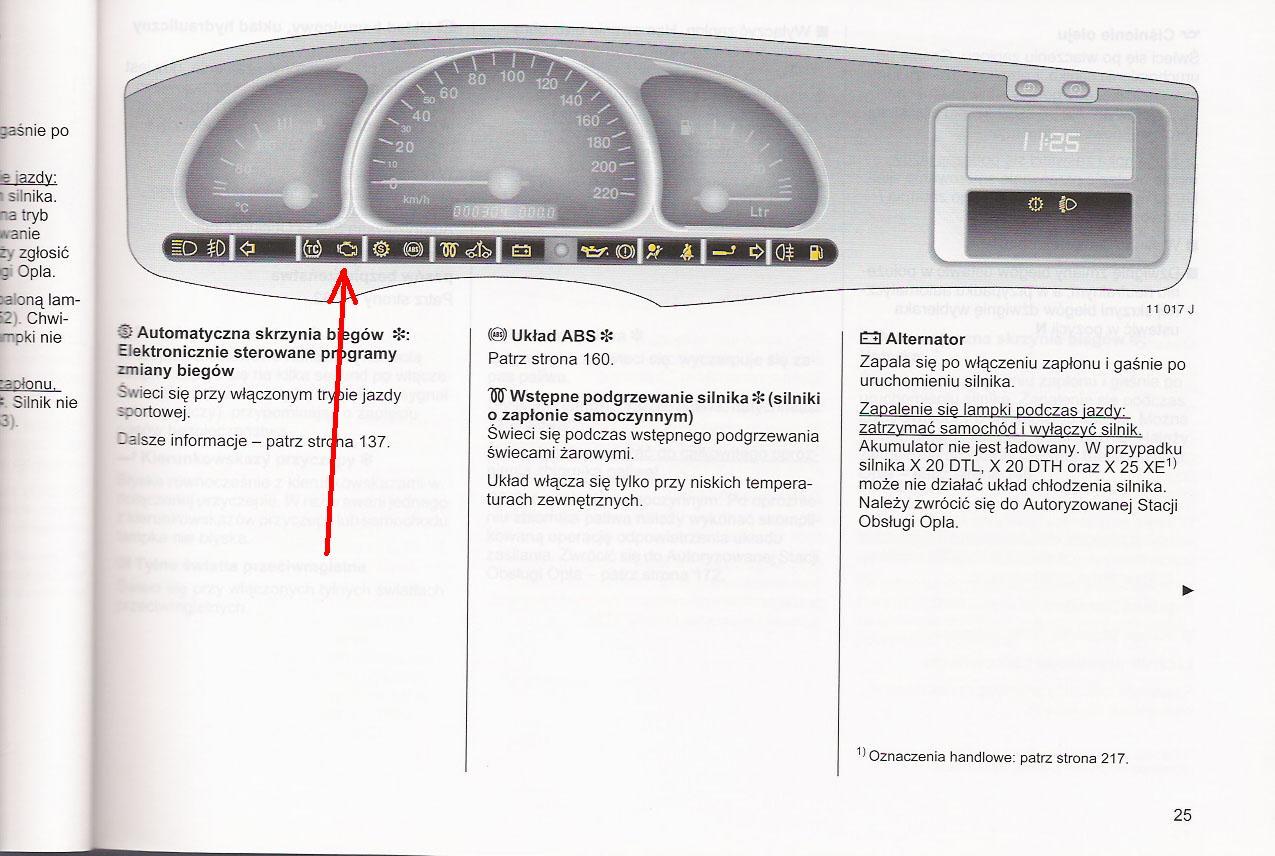 Vectra B nie ga�nie kontrolka uk�adu silnika- co jest?