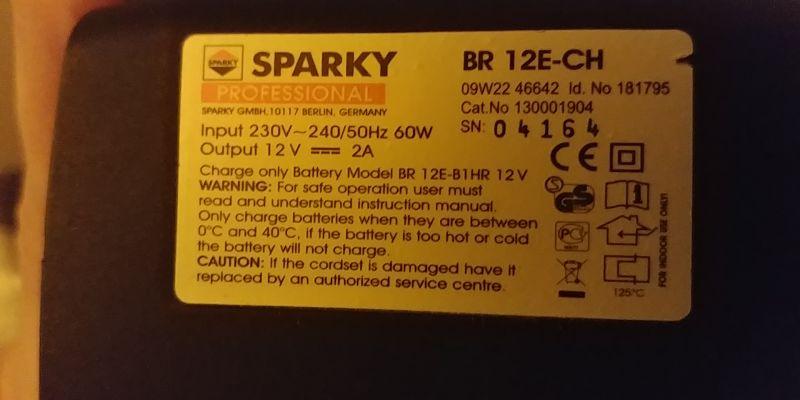 Gorąca ładowarka Sparky BR12E-CH do baterii z wkrętarki