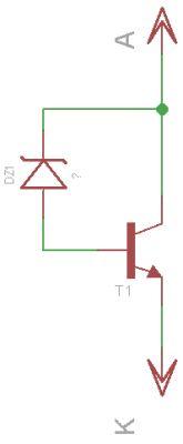 Wzmocnienie diody zenera tranzystorem npn