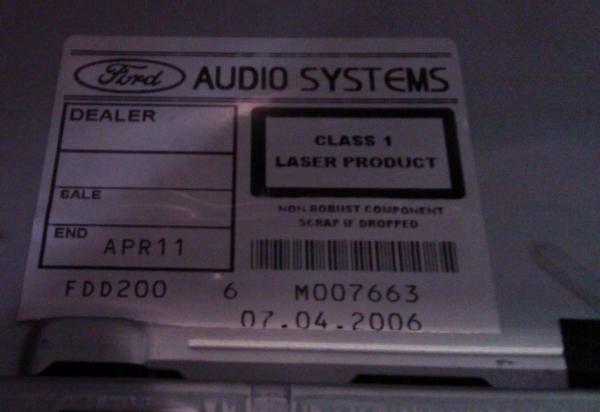 Ford Mondeo 6000CD - nie dzia�aja tylnie g�osniki