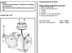 Renault Laguna 2 1.6 16V - Przepustnica powietrza rezystancja potencjometrów