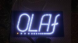 Lampka / tablica z napisem LED