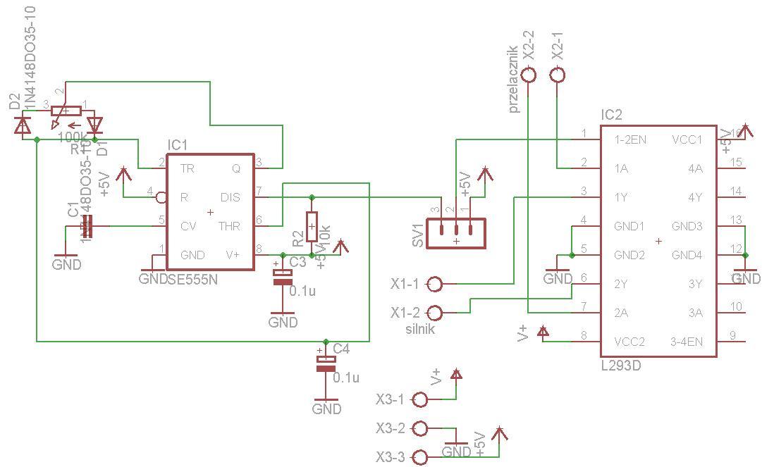 Sterownik silnika DC l293d + pwm nie dzia�a