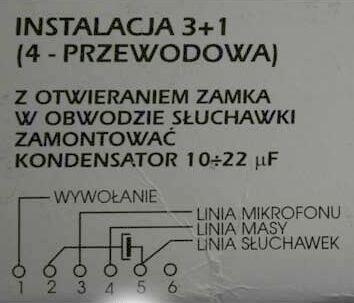 Vekta TK6 - Pod��czenie do instalacji 4-przewodowej