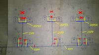Schemat instalacji C.O. w domku 50m2