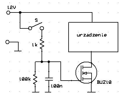 Tranzystor n-mosfet jako włącznik