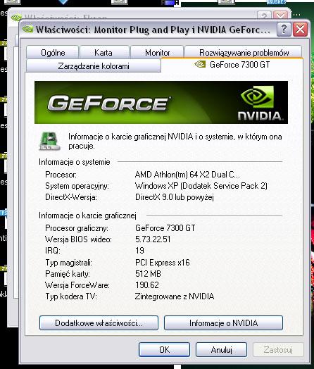 Karta GeForce 7300, TV Samsung CW-29K84N - podłączenie