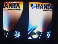 Manta DVD-031, obraz przedzielony czarnym pasem w pionie.