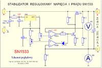 Prosty zasilacz laboratoryjny SN1533