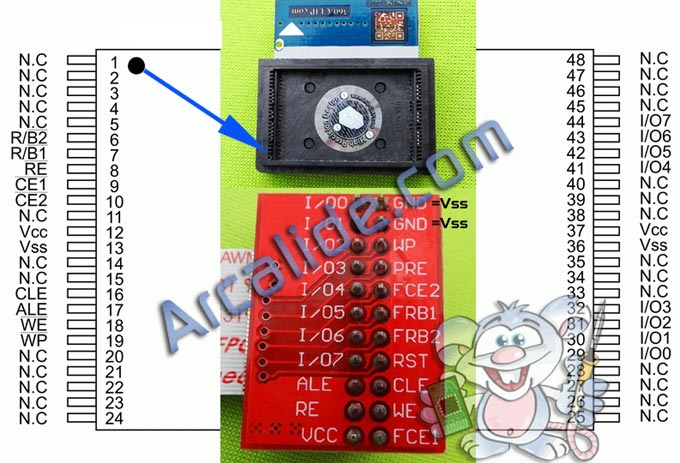 Nand flash 48-pin. MT 29F64G08CBABA Tablet Zenithink C71A C71A-BG-8BG-ZNSOO1-S