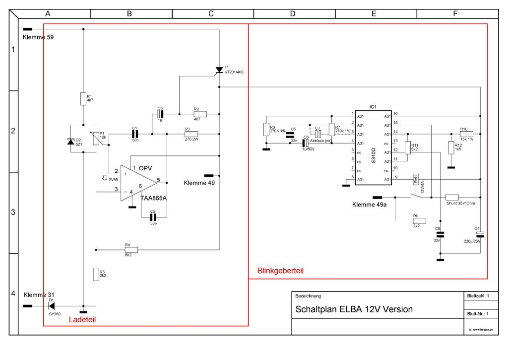 Simson SR50 elektronik - kierunkowskazy