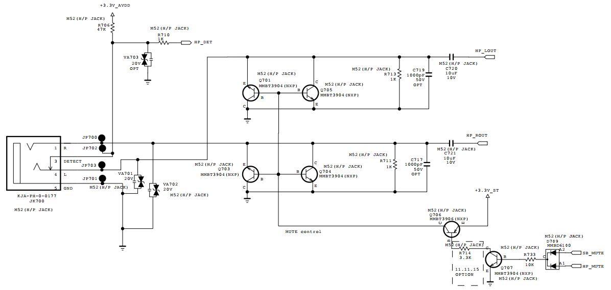 LG M2732D/M2752D - wyj�cie s�uchawkowe