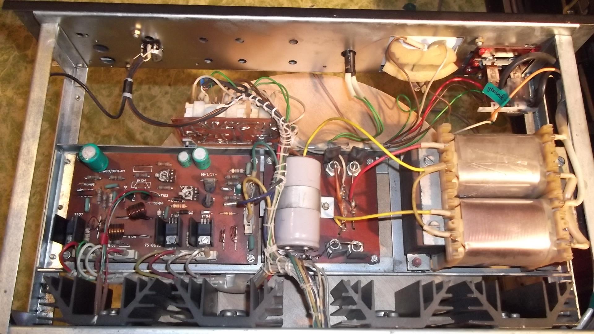 Jakie kondensatory filtruj�ce do Eltrona WM100 (ko�c�wka mocy)
