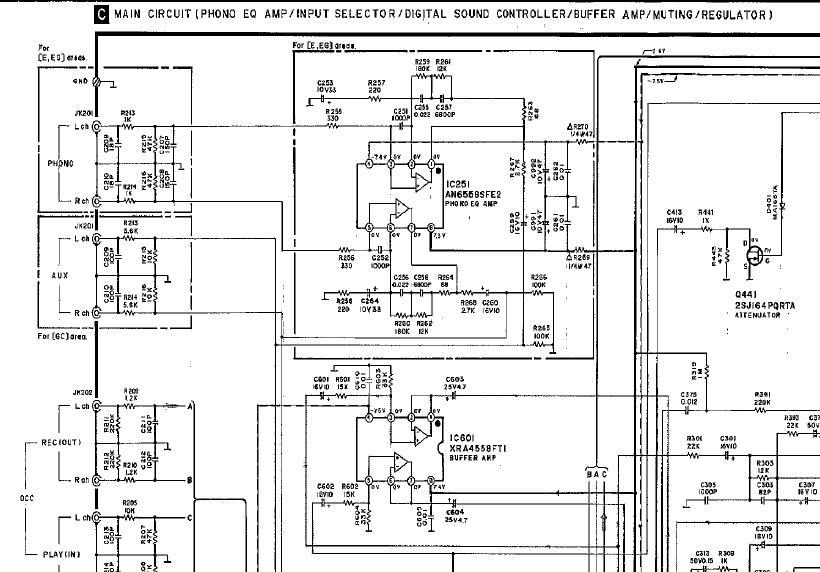 Technics ST-CH510 - Przerobienie wej�cia Phono na Aux