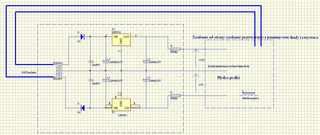 rezystor R93 pralki typu ews106410 W Elektrolux.