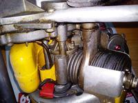 Silnik Ohlson&Rice - wiertarka spalinowa, jak zdjąć cylinder.