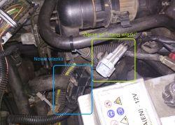 Astra G Z18XE podmiana wiązki - Połączenie z akumulatorem po wymianie wiązki sil