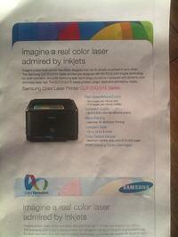 Samsung CLP-315 drukuje cień obrazu.