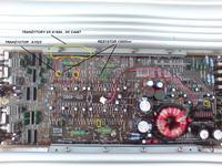 Wzmacniacz JBL GTO 4060 spalony rezystor