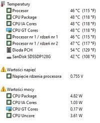 Lenovo G580 - Spadki wydajności - fps, wzrosty temperatur.