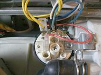 Pralka Candy csd85 - Podłączenie przewodów hydrostatu