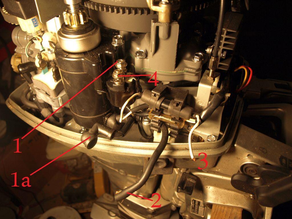 Silnik zaburtowy motor�wki Honda -jak pod��czy� przewody?