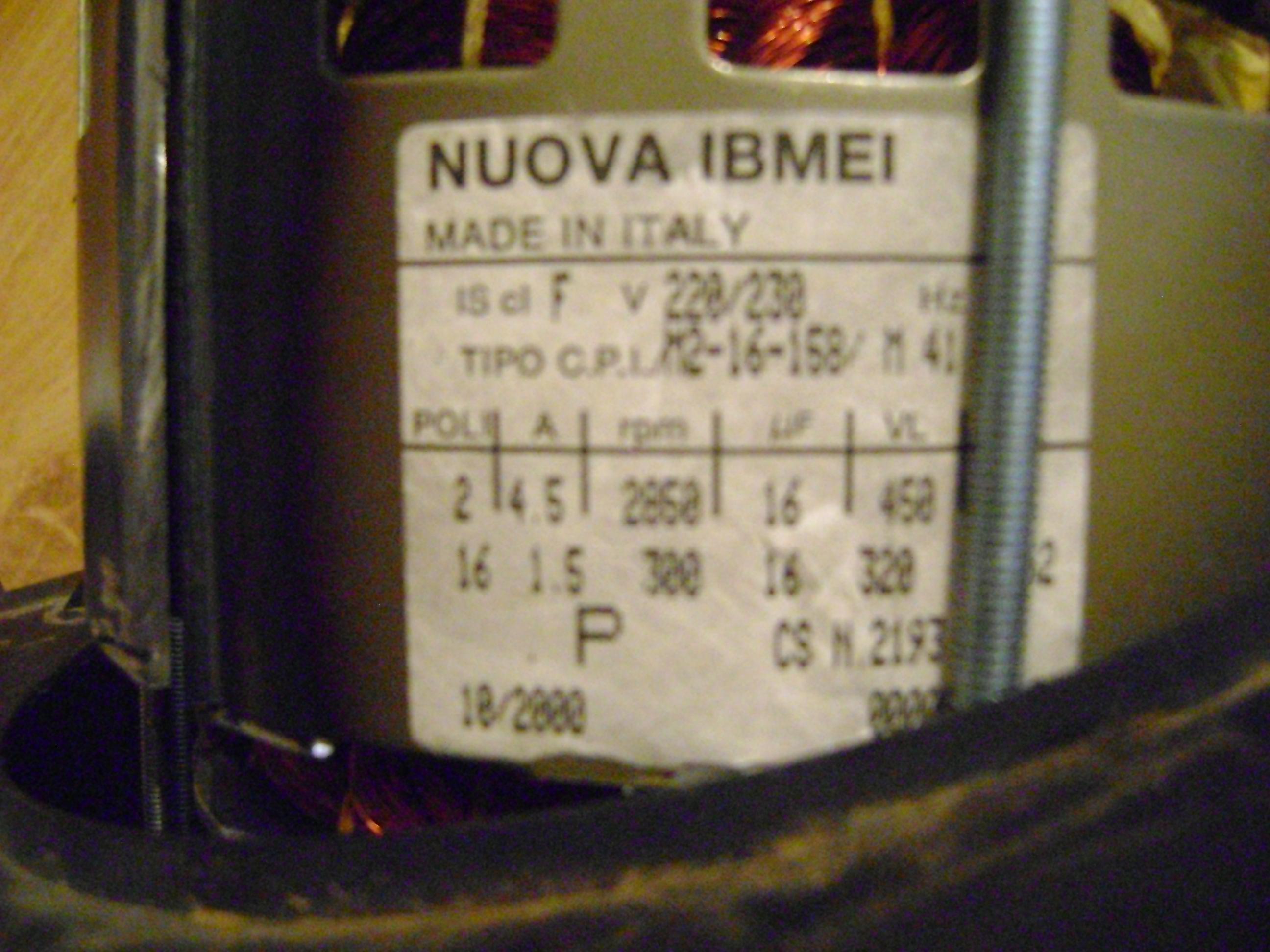 Ardo  - Silnik od pralki NUOVA IBMEI made in Italy zmiana obrot�w WIROWANIA