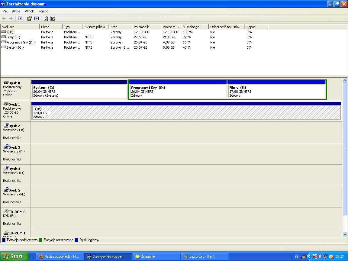 Dysk HD 502HJ + kontroler PCI chipset SiI3114 wykrywa tylko 137GB