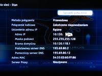 Sony 40ex720, przewodowe podłączenie do internetu