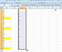 Excel - Odwracanie kolejności wierszy, oraz generator zmiennych.