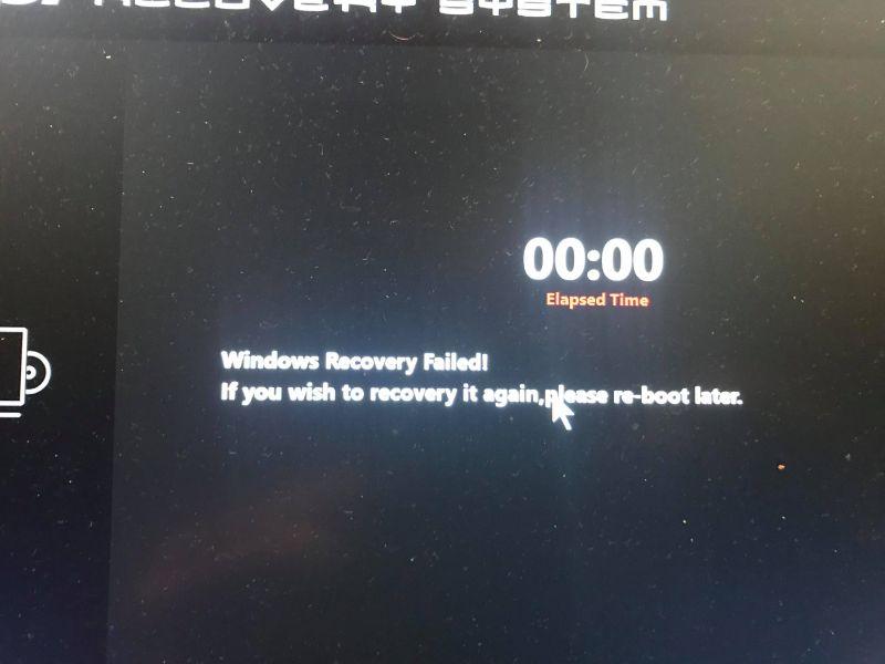 Msi/error/system - Brak możliwości przywrócenia do stanu fabrycznego