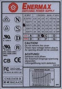 Enermax model: EG251P-V - jaka jest warto�� cewki oznaczonej jako L4?
