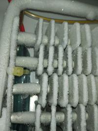 Samsung RF62HERS1/XEO-woda pod pojemnikami, lód wystający z otworów nofrost