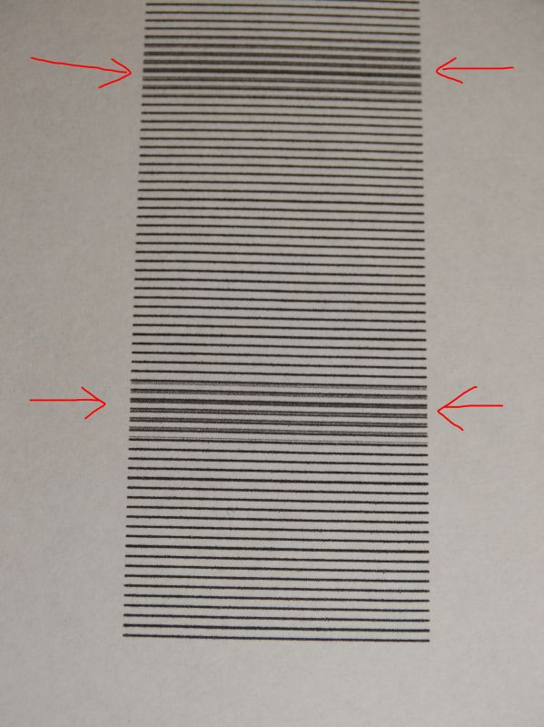 ESPON XP-245 - Zły druk w nowej drukarce, poziomie przesunięcie