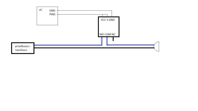 przekaznik do sterowania przedluzaczem, prosba o wyjasnienie incydentu elektrycz