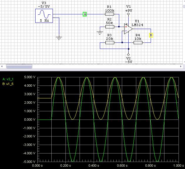 Przetwornik ADC Atmegi a pomiar napięć -5V ... +5V