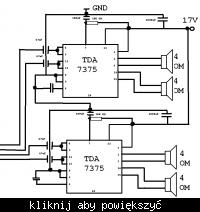 Wzmacniacz na 2x TDA7375 w mostku - projekt płytki i szumy