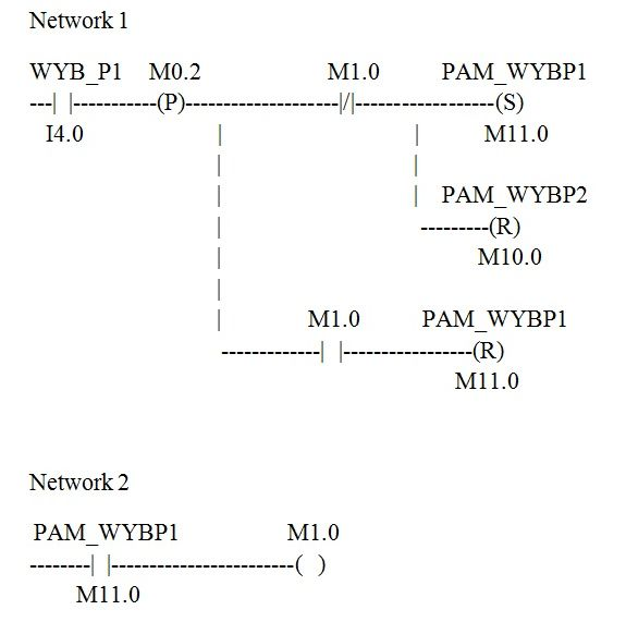 S7-300 - Podzielnik binarny i pami�� zbocza