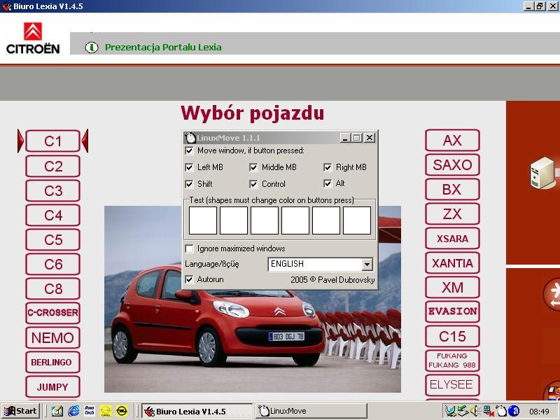 Instrukcja obs�ugi programu LinuxMove