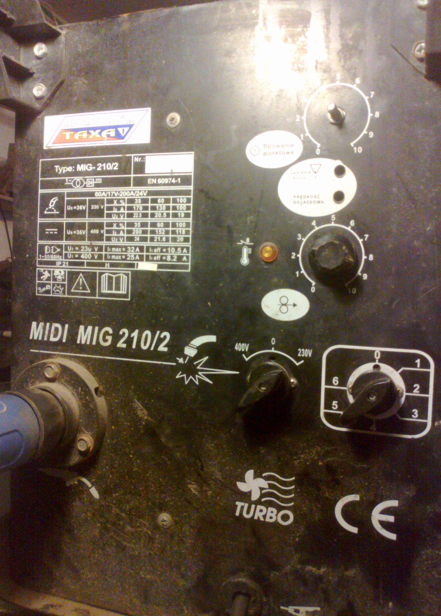 Szukam schematu migomatu Midi Mig 210/2