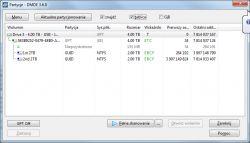 HGST HDN724040ALE640, tablica partycji