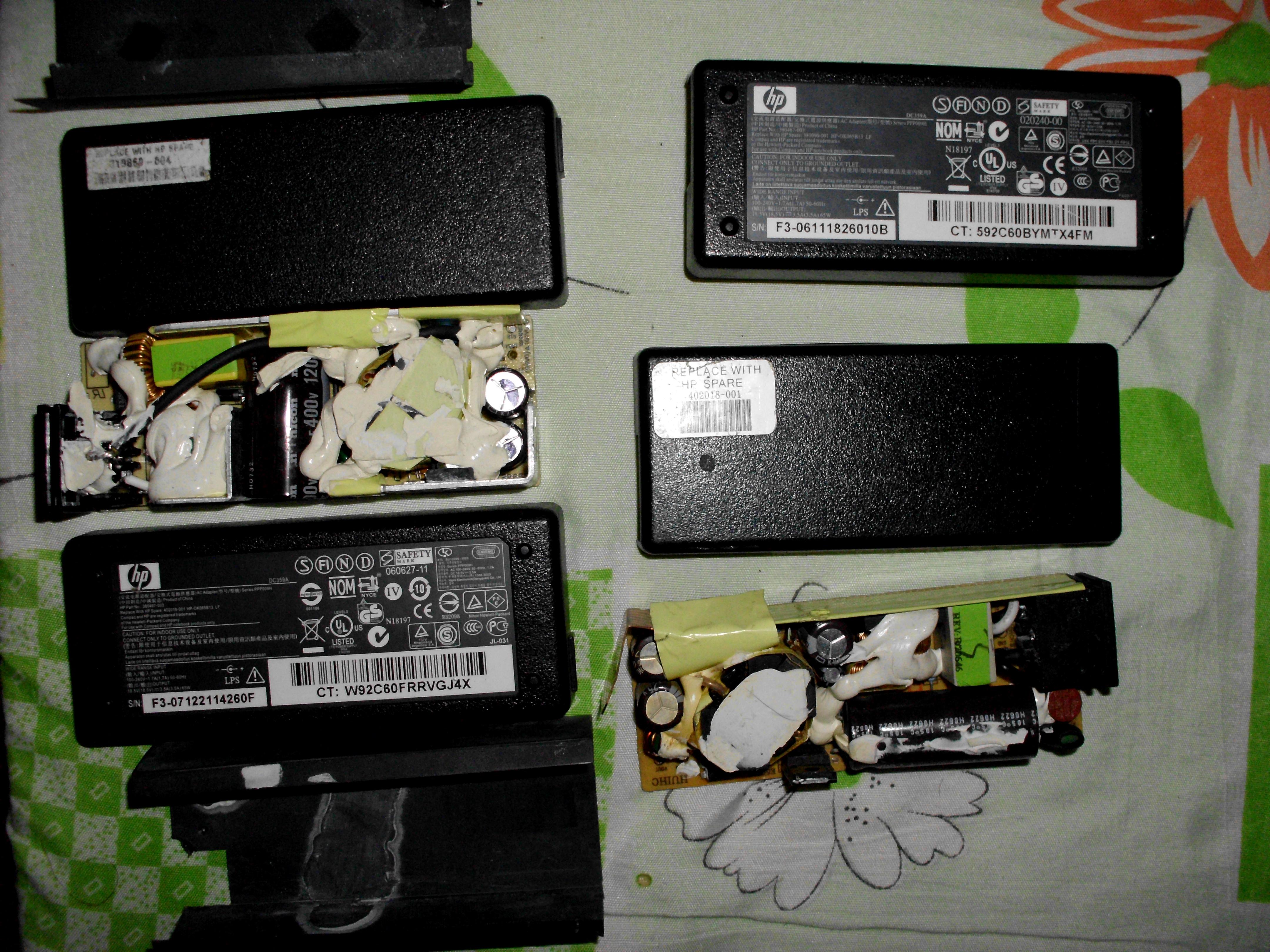 [Sprzedam] 4 �adowarki do Laptopa [2HP (1x uszk)], 1x Universalna Trust 1xAsus