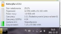 HP DV6-6040EW Reset baterii 10,8V 55Wh