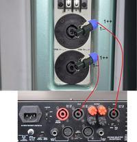 2xEAW JF80 - Omnitronic P-1500 - sposób połączenia