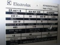 Lodówka Electrolux ER 4671 S - zamrażarka nie chłodzi