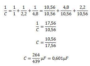 Wyliczenie pojemności kondensatorow