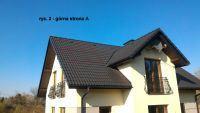 Rozmieszczenie paneli PV na dachu z lukarną